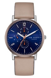 Ted Baker London Graham Leather Strap Watch 40Mm