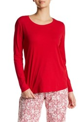 Joe Fresh Long Sleeve Scoop Neck Tee Red