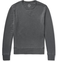 J.Crew Garment Dyed Loopback Cotton Jersey Sweatshirt Gray