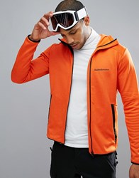Peak Performance Fleece Half Zip Fleck Sweat In Orange 85N Orange Lava