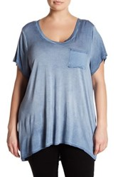 Cable And Gauge Short Sleeve Tee Plus Size Blue