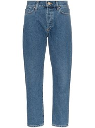 Gold Sign Goldsign High Waisted Straight Leg Jeans Blue