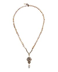 Love Heals Long Cultured Pearl Charm Pendant Necklace Women's