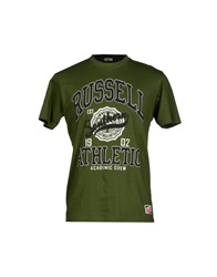 Russell Athletic T Shirts Military Green