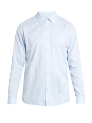 Sorensen Officer Button Cuff Oxford Cotton Shirt Blue