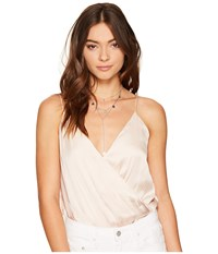 Lovers Friends Leo Cami Bodysuit Champagne Women's Jumpsuit And Rompers One Piece Gold