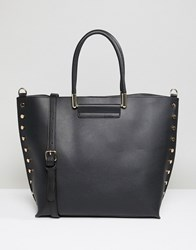 Warehouse Shopper Bag With Stud Detail In Black