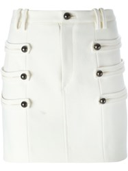 Isabel Marant Mini Fitted Skirt White