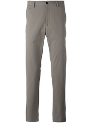 Theory Straight Leg Stretch Trousers Nude Neutrals