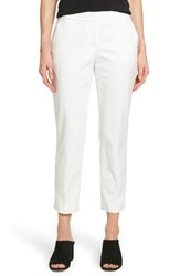Vince Camuto Women's Crop Straight Leg Pants New Ivory