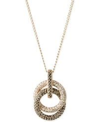 Judith Jack 14K Gold Plated Marcasite Crystal Intertwined Circle Pendant Necklace