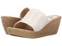 Sbicca Fiorella White Women's Wedge Shoes