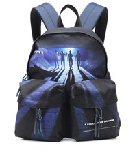 Undercover Printed Backpack Blue