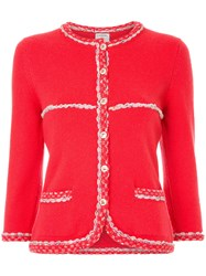 Chanel Vintage Embroidered Detailing Fitted Jacket
