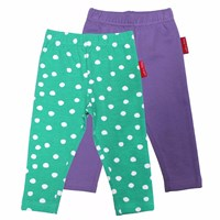 Toby Tiger Green And Purple Leggings 2 Pack White Green Pink