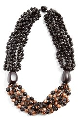 Women's Eskandar Seed Bead And Copper Short Necklace
