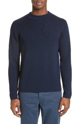 Norse Projects Men's Matti Double Face Merino Wool Sweater Principle Blue