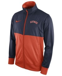 Nike Men's Houston Astros Track Jacket Navy Orange