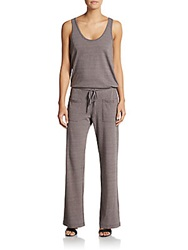 Candc California Drawstring Jersey Jumpsuit Faded Black