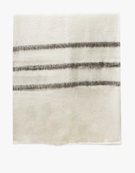 Someware Sabana Wool Throw Stripes White Brown White Brown