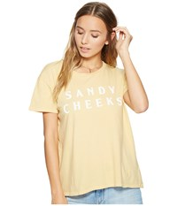 Amuse Society Sandy Cheeks Tee Vintage Gold Women's T Shirt