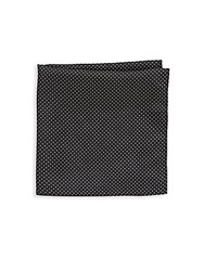 Saks Fifth Avenue Silk Dotted Pocket Square Black