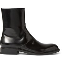 Jil Sander Antick Polished Leather Boots Black