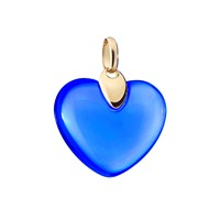 Andre Benitah Creations Paris Resin And Gold Heart Pendant Dark Blue