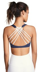 Phat Buddha Park Ave Sports Bra Outer Space Bright White Strap
