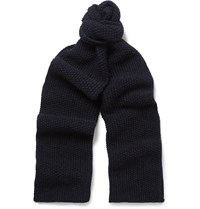 The Workers Club Merino Wool Scarf Blue