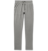 Loro Piana Slim Fit Cotton And Cashmere Blend Sweatpants Gray