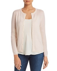 Bloomingdale's C By Crewneck Cashmere Cardigan 100 Exclusive Petal Pink