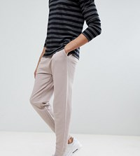 Asos Design Tall Slim Joggers In Light Pink
