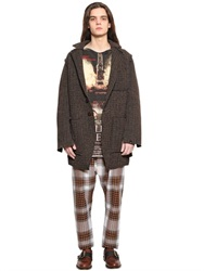 Vivienne Westwood Check Brushed Wool Knit Jacket