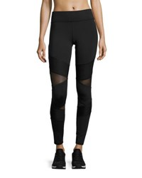 Michi Kitana Mesh Panel Performance Leggings Black
