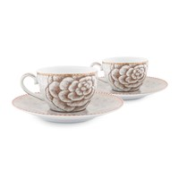 Pip Studio Spring To Life Cup And Saucers Set Of 2 Cream
