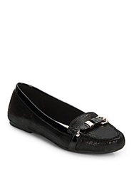 Ak Anne Klein Savina Embossed Leather Flats