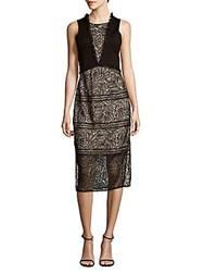 Prose And Poetry Alison Frayed Roundneck Dress Black Cream