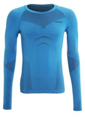 Odlo Evolution Warm Undershirt Blue Turquoise