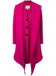 Marc Jacobs Notch Collar Coat Pink And Purple