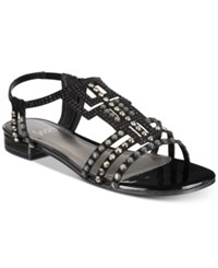 Impo Annette Embellished Strappy Sandals Black