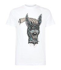 Mcq By Alexander Mcqueen Scary Bunny Print T Shirt Male White