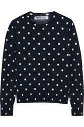Comme Des Garcons Polka Dot Intarsia Wool Sweater