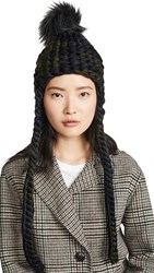 Mischa Lampert Nolita Long Hat Dark Camo