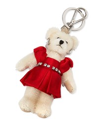 Prada Teddy Bear Charm For Handbag W Red Dress Red Fuoco