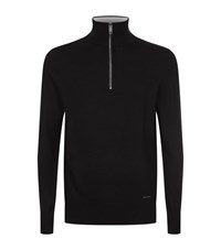 Burberry Cashmere Half Zip Fleece Male Black