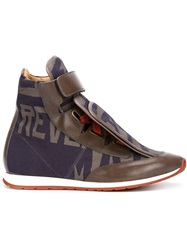 Vivienne Westwood Three Tongue High Top Sneakers