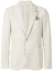 Manuel Ritz Single Breasted Blazer White