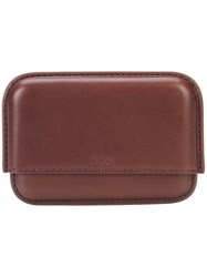 A.P.C. Cap Wallet Men Leather One Size Brown