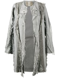 By Walid 18Th Century Embroidered Coat Grey